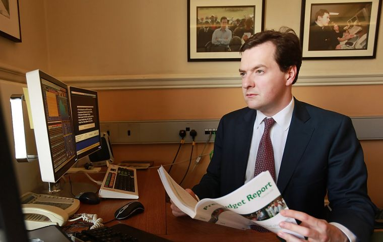 "Financial transaction tax ""s not a tax on banks or bankers, it's a tax on pensioners and people with savings and investments"" warned Chancellor Osborne (Pic Zimbio)"