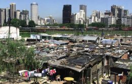 Villa miserias or slums in the city of Buenos Aires