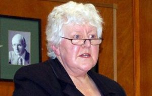 "MLA Jan Cheek said the Irish view on the Falklands is an interesting one and ""I enjoyed some lively discussions"""