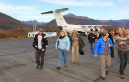 The IAATO delegates arrive in Puerto Williams (Photo: DAP Group)