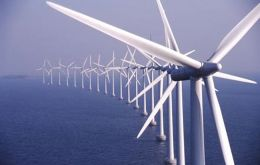 Wind farms in the sea