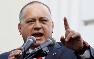 Assembly president Cabello said that as long as the opposition does not recognize Maduro president, they will not be allowed to address the house