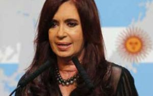 "The Argentine president called the sinking of the cruiser ""a criminal and coward action"""