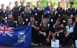 Falklands' delegation to Games competition   (Pic File)
