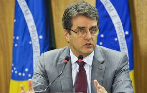 "The result of the election will be made official Wednesday but Azevedo anticipated that his candidacy had ""a very broad base of support from all kinds of countries"""