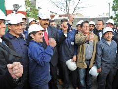 The Venezuelan president cheered at the Urutransform factory