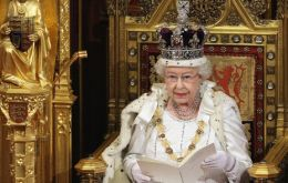 The Queen addresses Parliament at the House of Lords ceremony