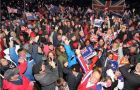 Falkland Islanders celebrate the March 10/11 referendum results