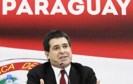 President-elect Cartes takes office next 15 August