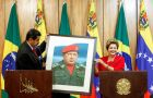 Maduro gave Rousseff a picture of the former Venezuelan leader Hugo Chavez