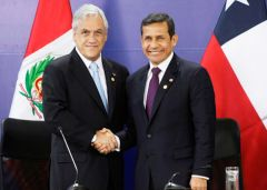 Piñera and Humala will be received at the White House in June