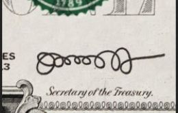 Treasury Secretary Lew and his 'loopless' stamp