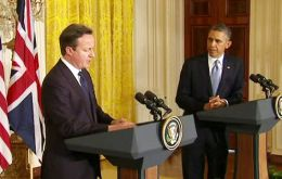 PM Cameron and President Obama at the White House