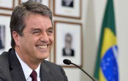 The Brazilian diplomat officially takes the post from Lamy next September