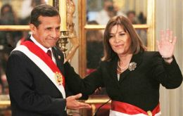 President Humala takes the oath of Foreign minister Eda Rivas