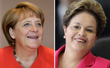 Angela Merkel and  Dilma Rousseff