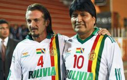 The Hollywood actor and Evo Morales not so long ago