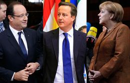 Hollande, Cameron and Merkel pledged want coordinated international action