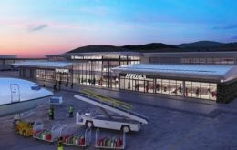 Image of St Helena's planned new airport bulding