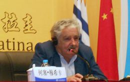 President Mujica at the Uruguay Day at the China International Fair for Trade in Services