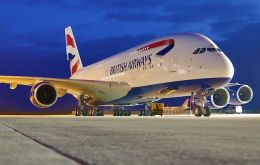 British Airways' soon to be delivered first A380 will take the centre stage