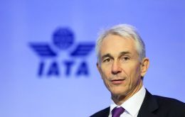 On average, airlines will earn about four dollars for every passenger carried according to IATA chief executive Tony Tyler