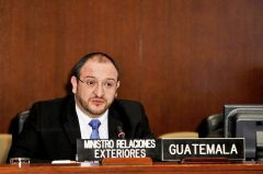 """A signing ceremony for the two conventions will be held on Thursday"", said Guatemala Foreign Secretary Carrera Castro ."