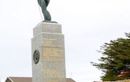 The Liberation Monument in Stanley