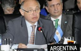 Timerman addressing the OAS assembly in Antigua