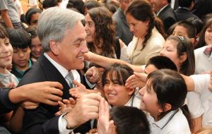 President Piñera more concerned about the missing million children