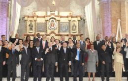 End of the general assembly ceremony in Antigua
