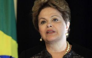 """Inflation is under control, the public finances are under control"" said Rousseff"