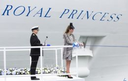 """I name this ship Royal Princess. May God bless her and all who sail in her"""