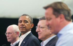 Leaders of EU and President Obama make the announcement at Enniskillen
