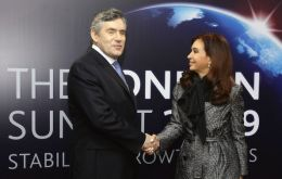 Argentine president Cristina Fernandez attended the meeting which then PM Gordon Brown wanted a successful outcome of the summit
