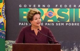 The president said 'Brazil woke up stronger today', and insisted she also wants 'a better country'