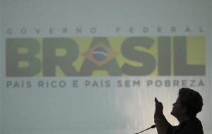 The Brazilian president followed the demonstrations in Brasilia from the Planalto Palace