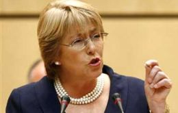 Former president and leading in the polls Michelle Bachelet said the Hidro-Aysen project is not viable