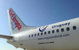 The three month campaign is shared with Air Europa that recently established direct links Montevideo-Madrid