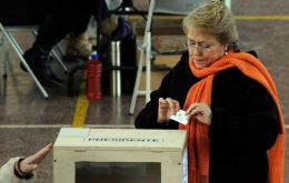 Former Chilean President Michelle Bachelet won by 73.05%