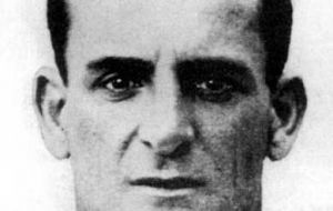 Jose Nasazzi, captain of the victorious Uruguayan squad