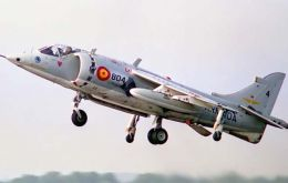 The Matador are a Spanish version of the Harrier jet and operate from carrier Juan Carlos I