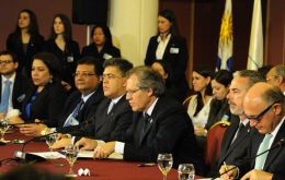 Minister Almagro (C) confirmed that on Friday Venezuela will take the presidency of Mercosur