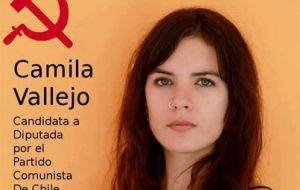 Camila Vallejo, since 2011 a permanent headache for the conservative coalition of President Piñera