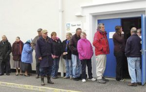 St Helenians, Chileans and 18 Argentines figured in the Falklands electoral register (Photo AP)