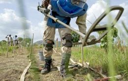 Maintenance of the equipment allows the normal continuity of humanitarian demining operations