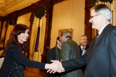 The top executives from Chevron and YPF later in the evening met with President Cristina Fernandez