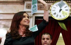 Cristina Fernandez target of having an ample majority in Congress is in peril