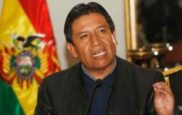 Foreign minister David Choquehuanca made the announcement
