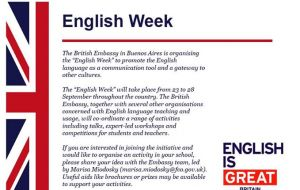 The competition is part of the English Week, which will run in September